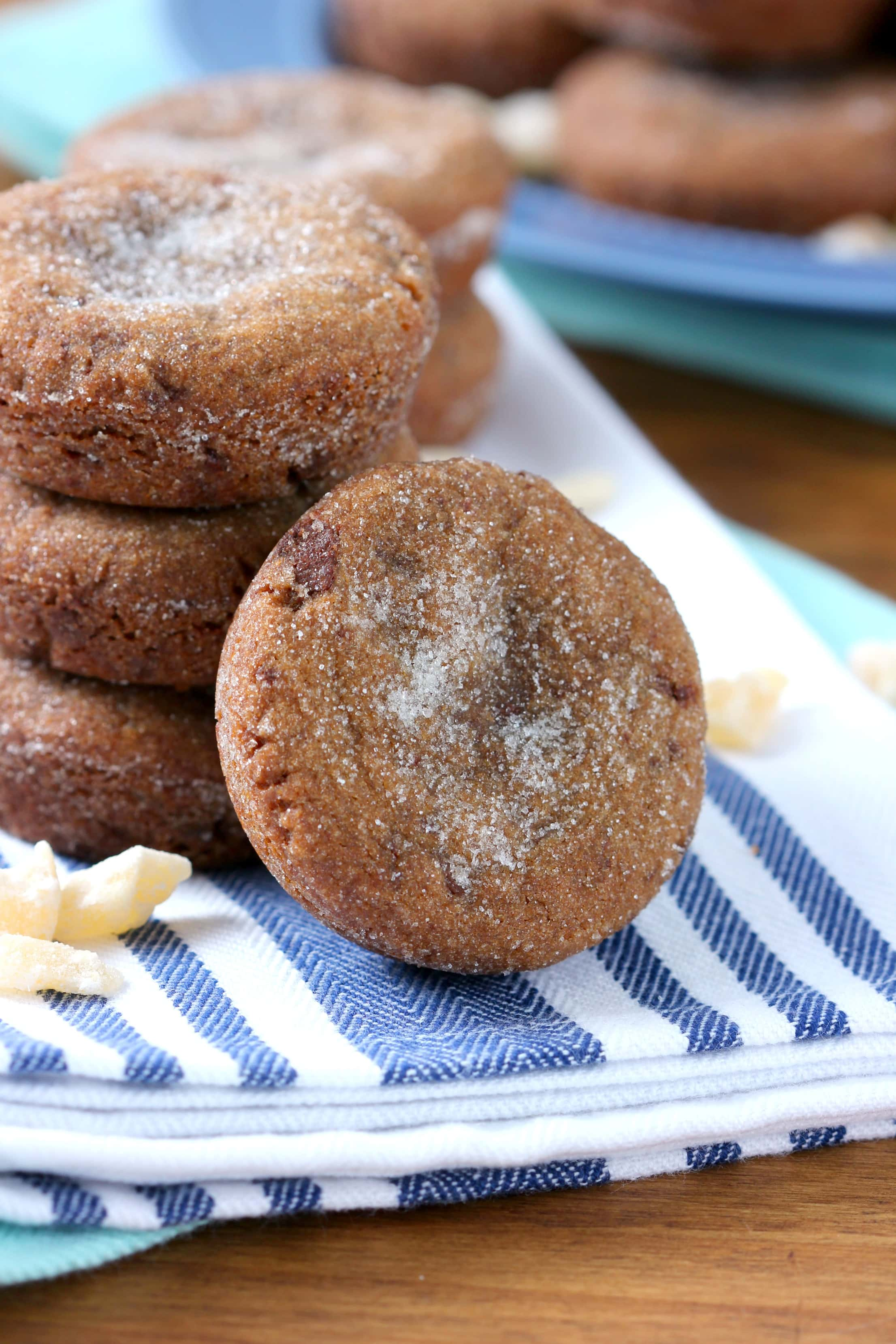 Thick and chewy Double Ginger Molasses Cookies Recipe from A Kitchen Addiction