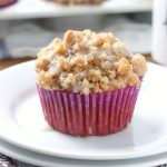 Quick and Easy Pumpkin Coffee Cake Muffins Recipe from A Kitchen Addiction