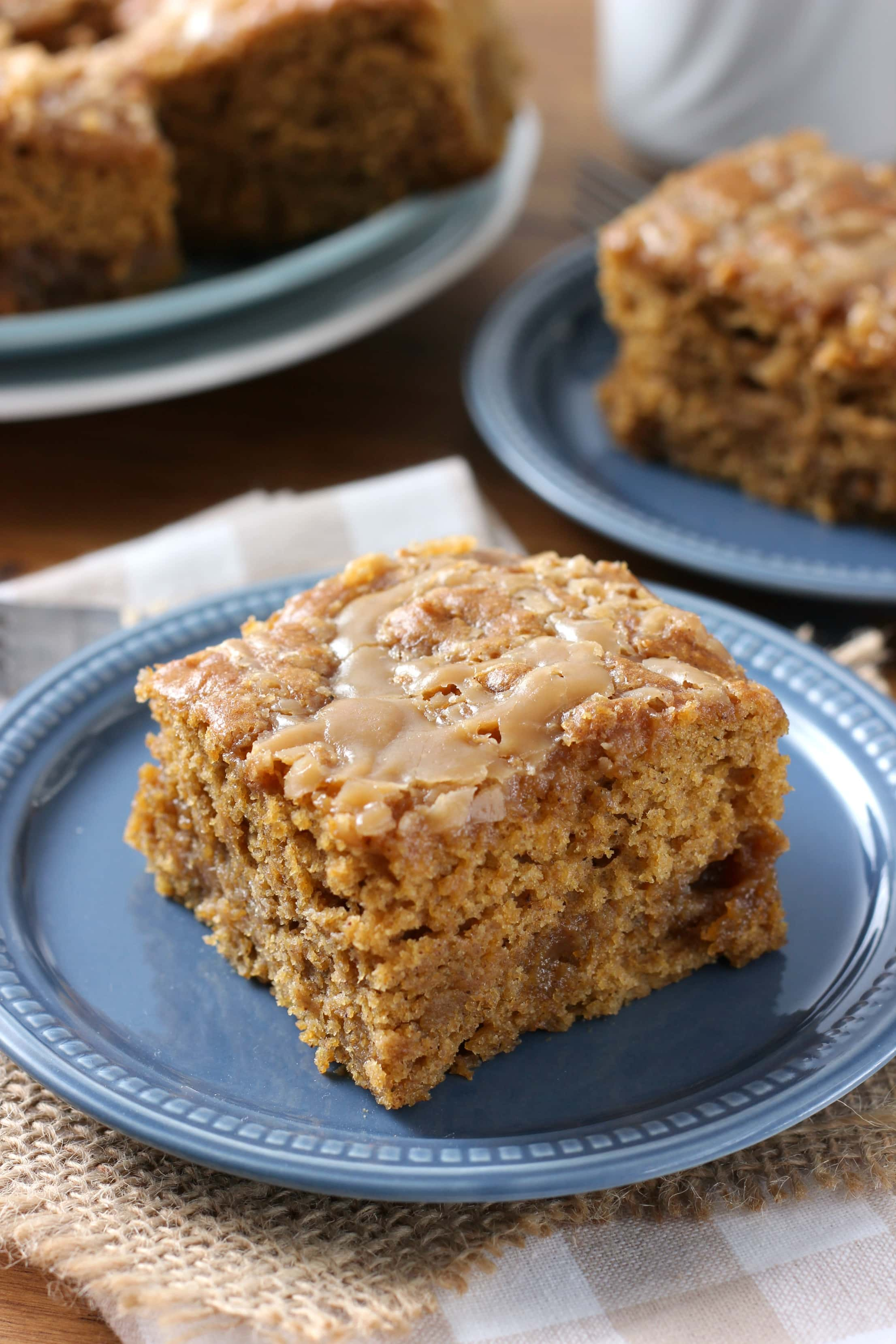 Easy Gooey Salted Caramel Pumpkin Cake Recipe from A Kitchen Addiction