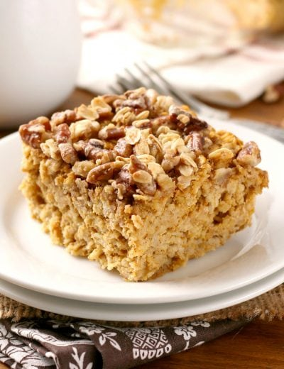 Maple Pecan Pumpkin Baked Oatmeal