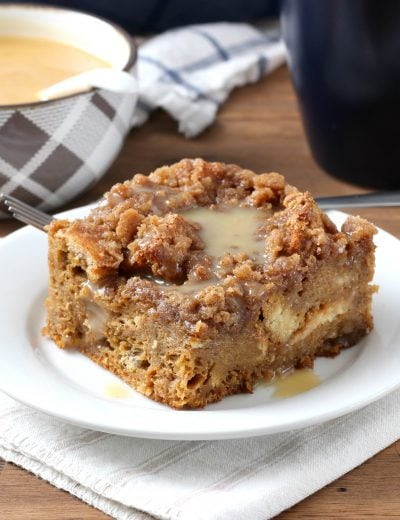 Eggnog Gingerbread French Toast Bake