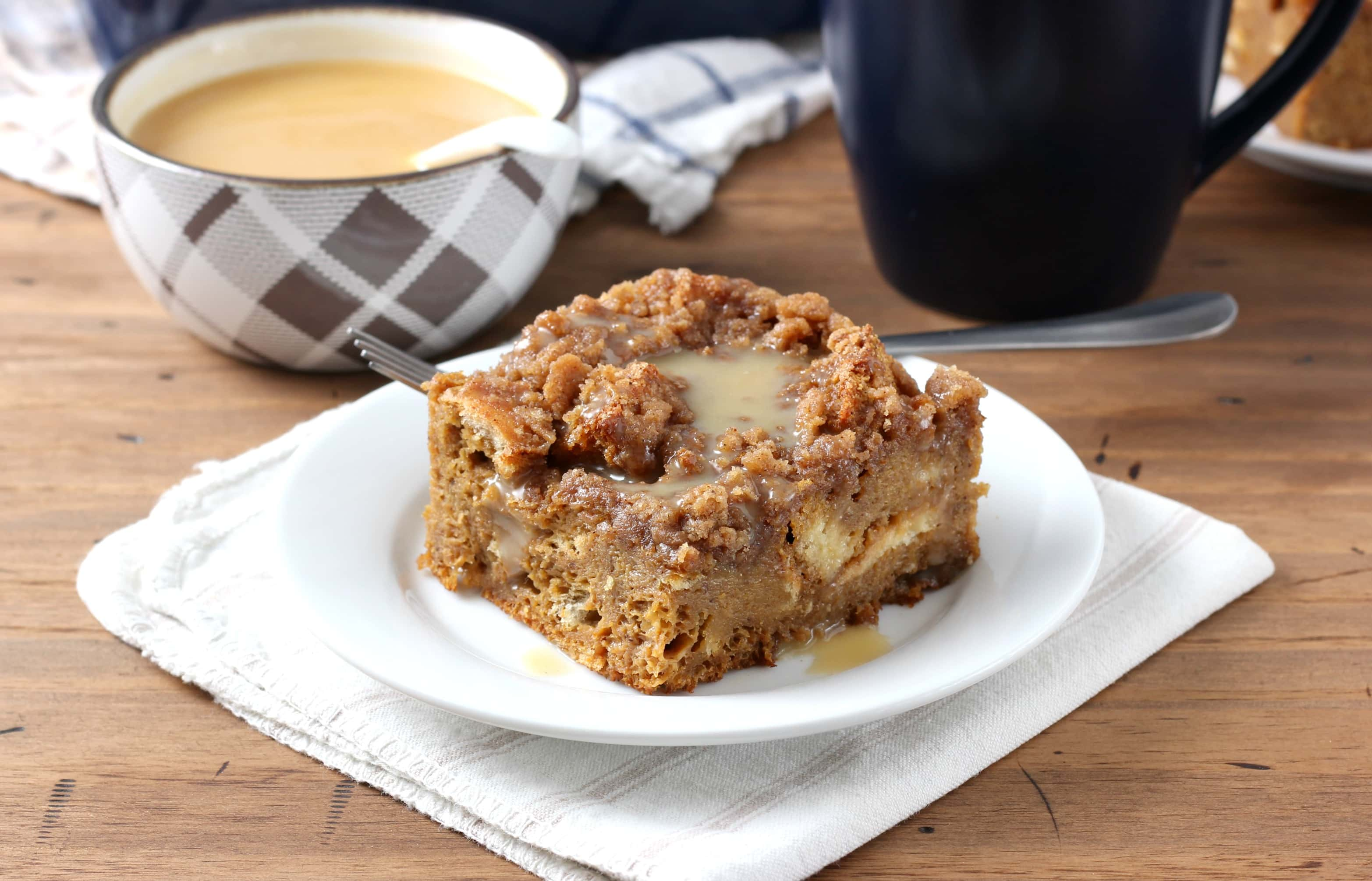 Eggnog Gingerbread French Toast Bake with Eggnog Syrup Recipe from A ...