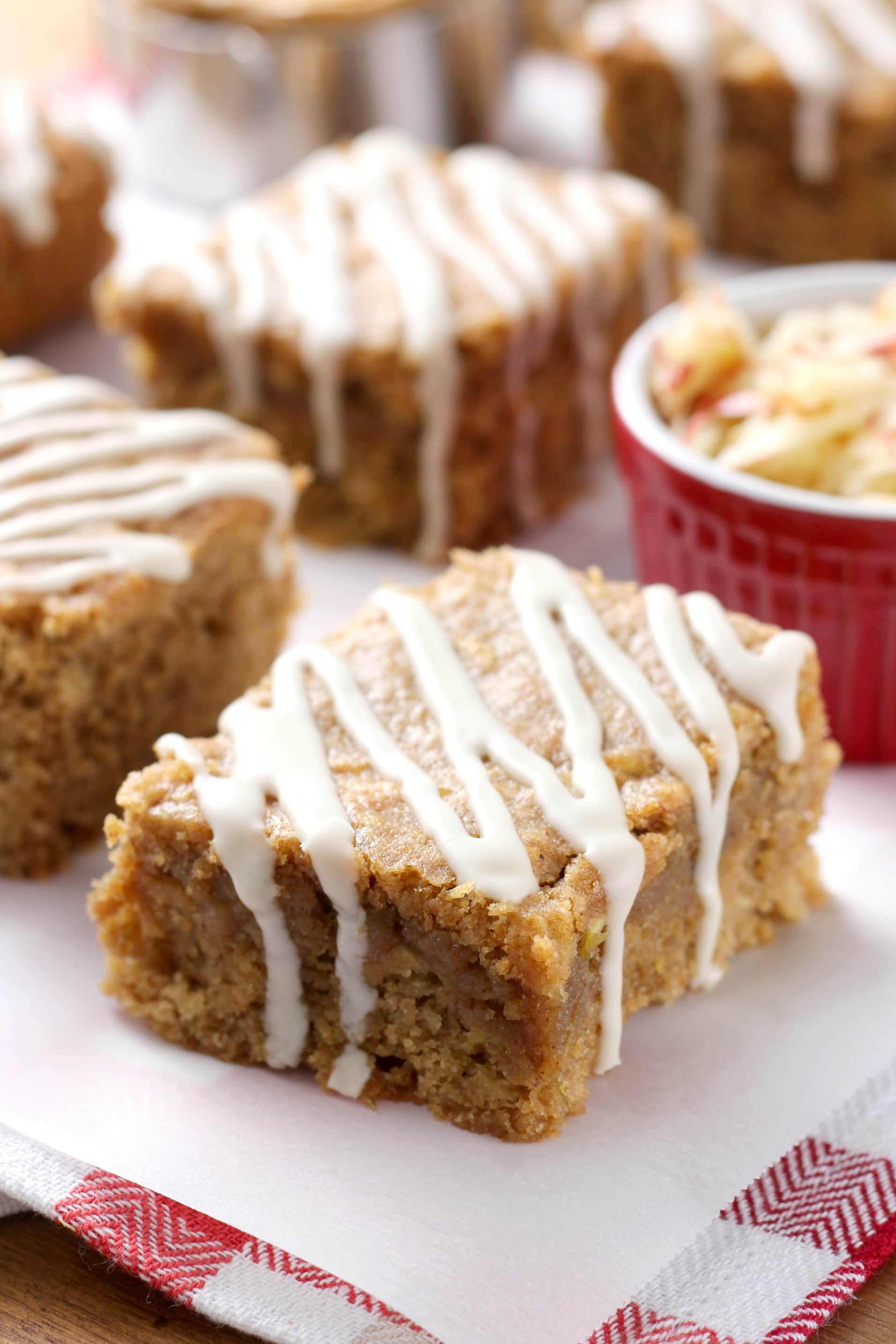 Maple Glazed Apple Peanut Butter Bars (Whole Wheat) Recipe from A ...