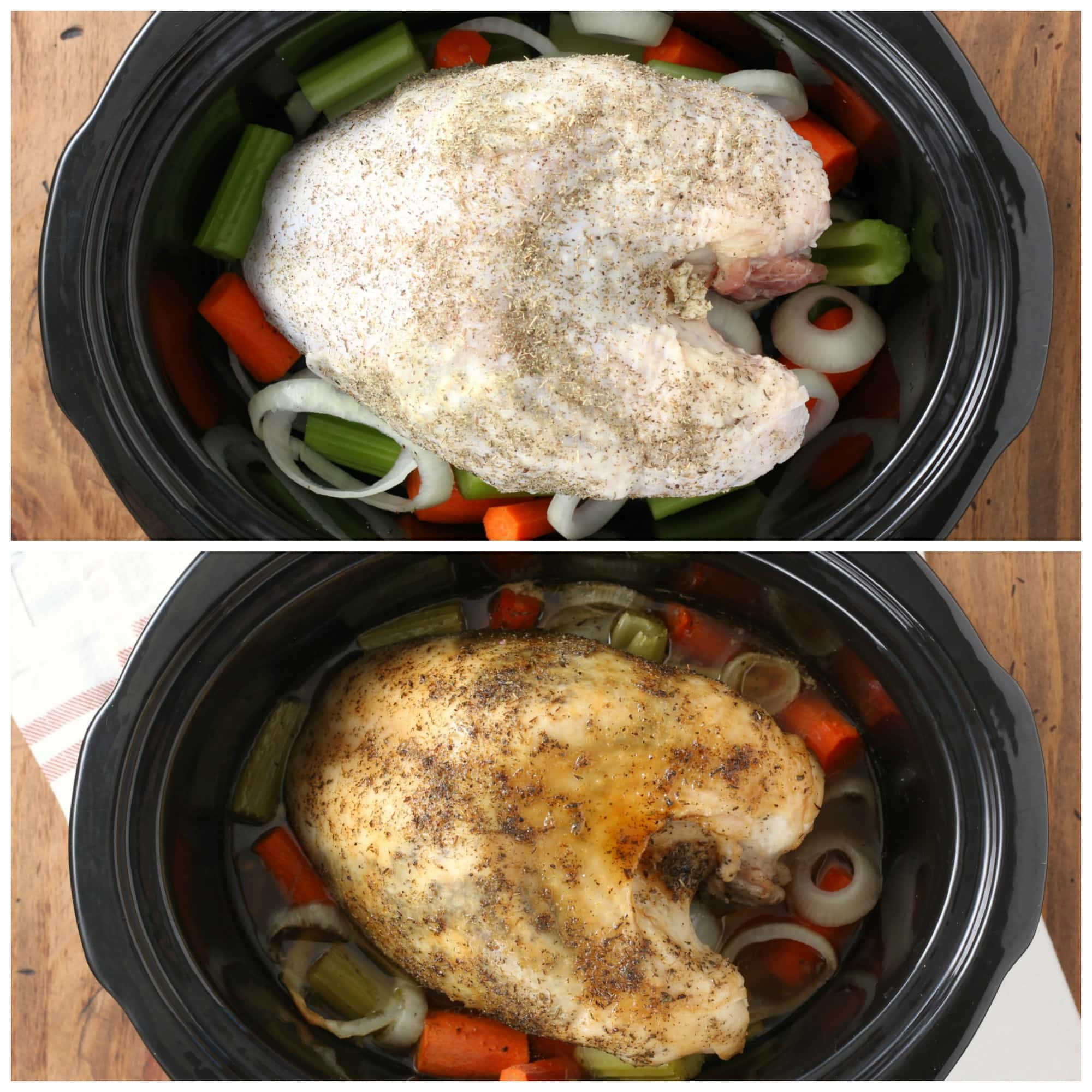 Maple Herb Butter Turkey Breast in Slow Cooker
