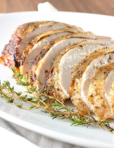 Slow Cooker Maple Herb Butter Turkey Breast with Apple Cider Glaze