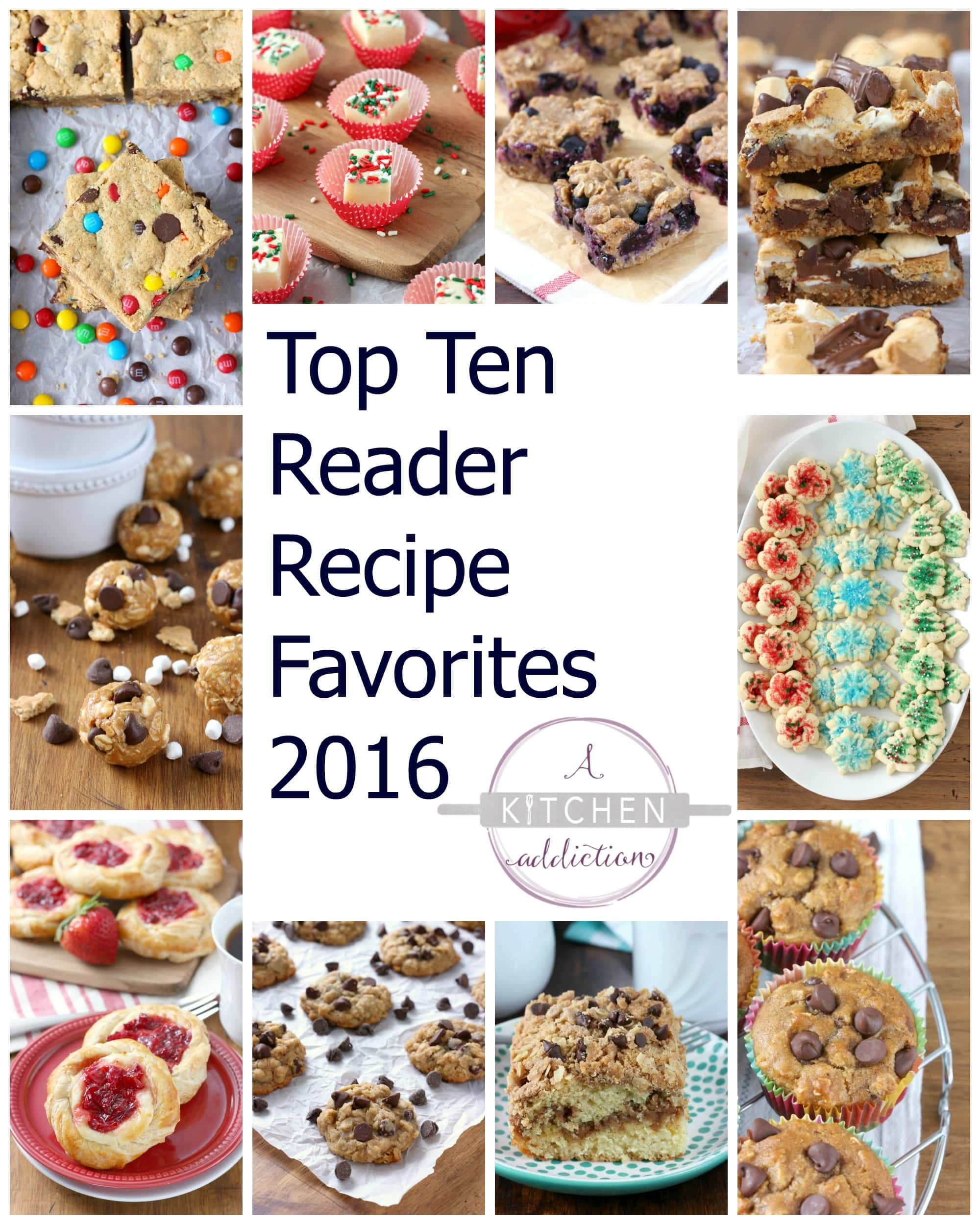 Top Ten Reader Recipe Favorites 2016