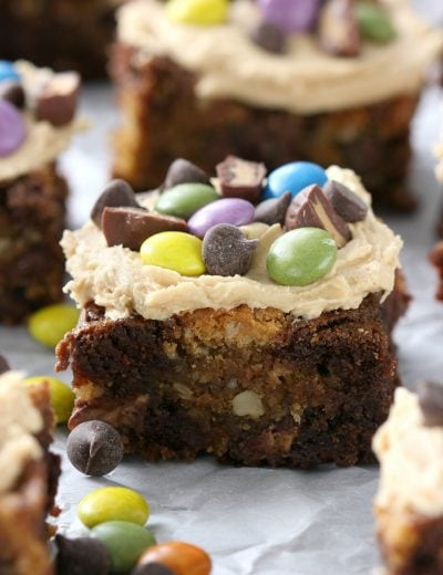 Loaded Peanut Butter Monster Cookie Brownies