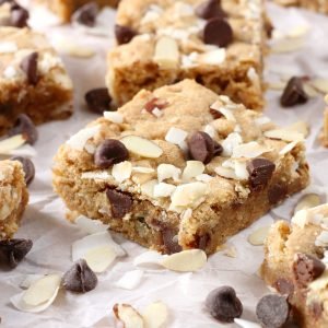 Almond Joy Blondies {Whole Wheat}