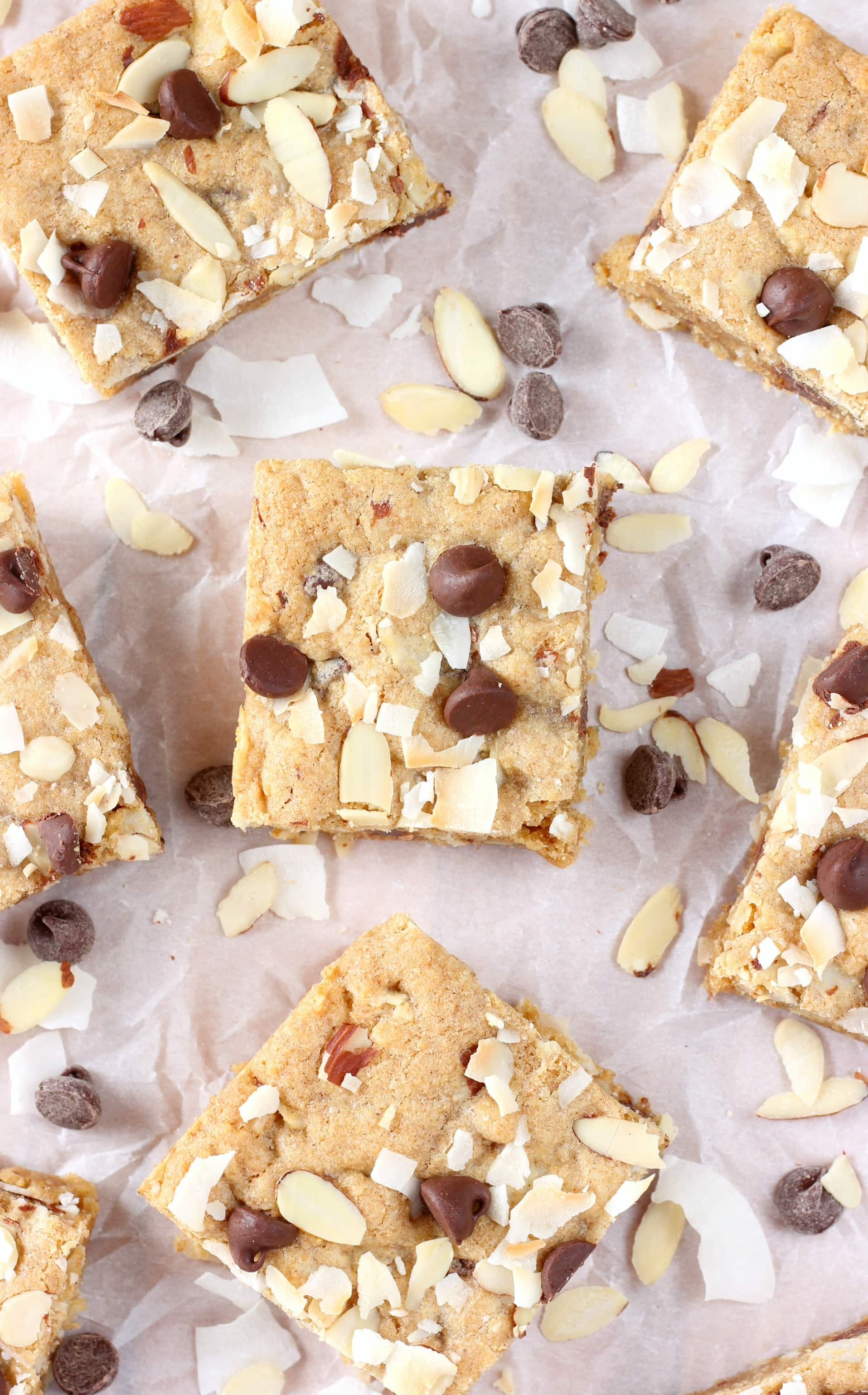 Easy Almond Joy Blondies Recipe from A Kitchen Addiction