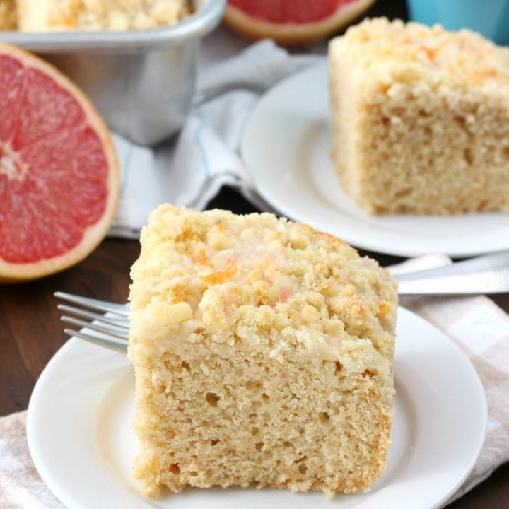 Grapefruit Yogurt Coffee Cake Recipe from A Kitchen Addiction