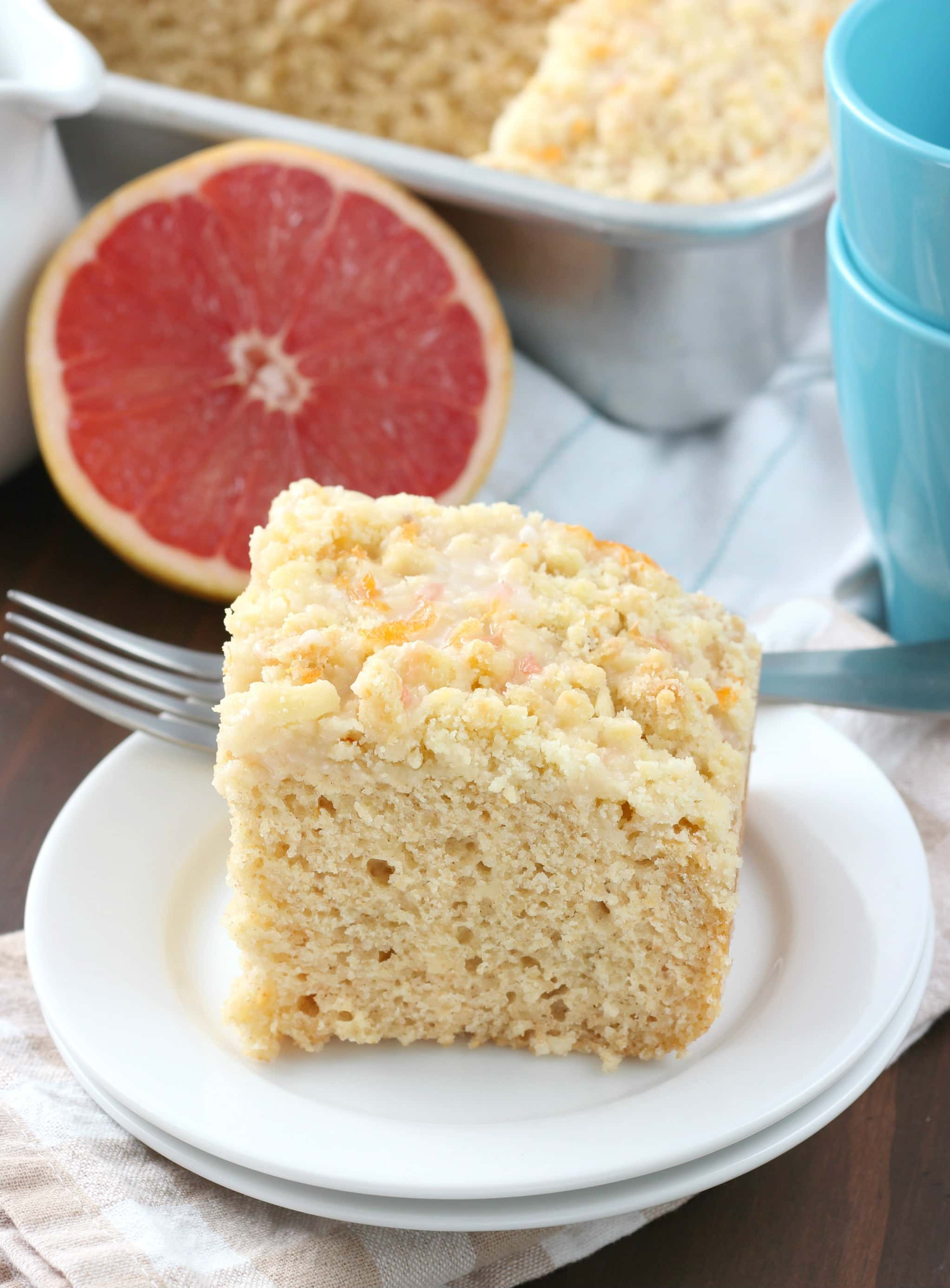Grapefruit Yogurt Coffee Cake Recipe from A Kitchen Addiction