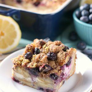 Blueberry Lemon Cream French Toast Bake (Overnight Option!)