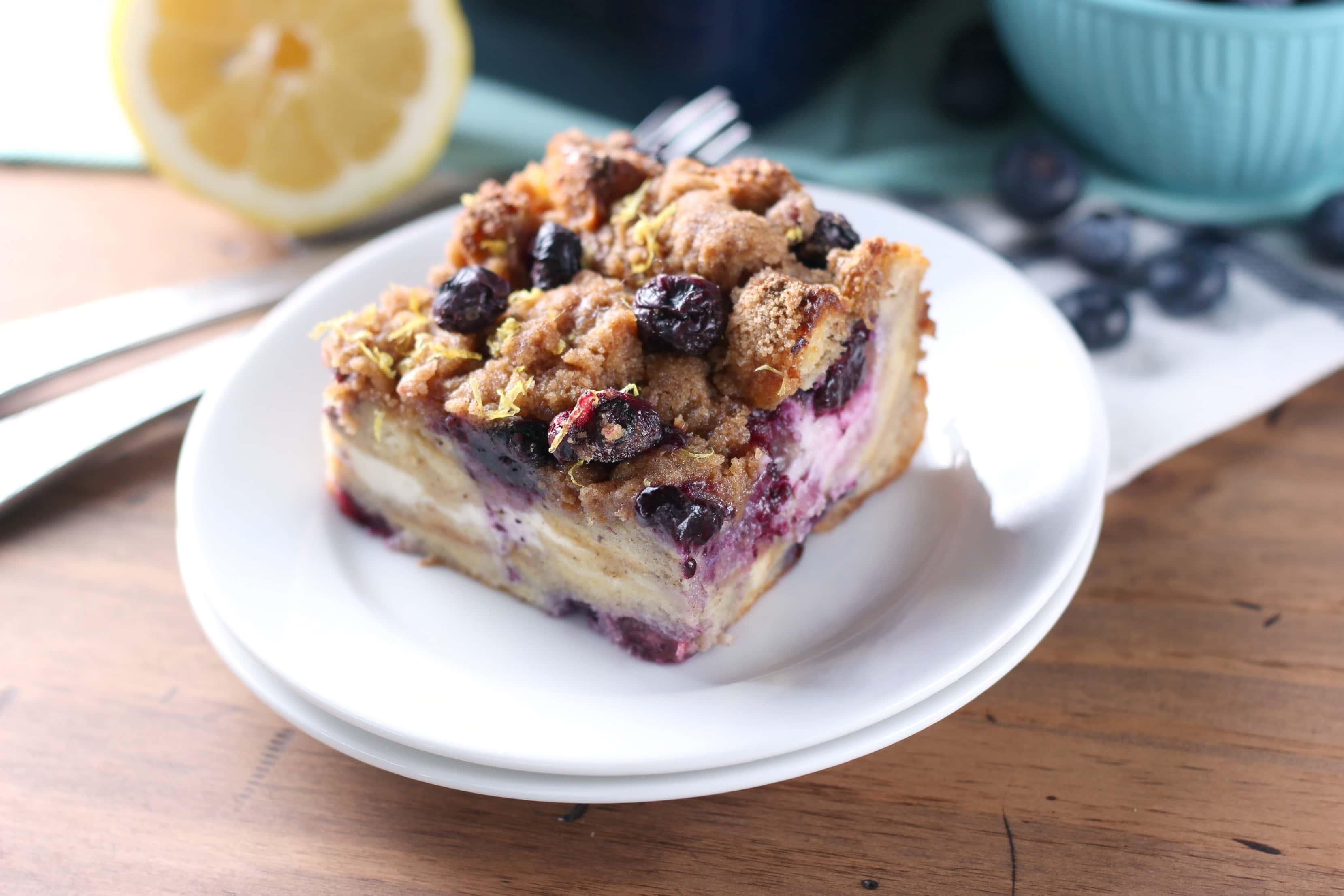 Easy Blueberry Lemon Cream French Casserole Recipe