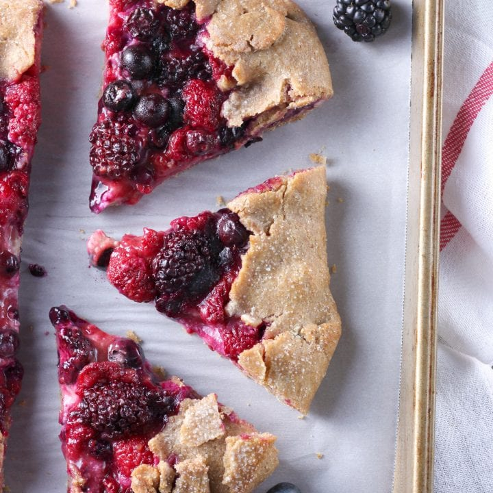 Triple Berry Cream Cheese Crostata Recipe from A Kitchen Addiction