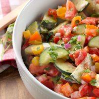 Creamy Ranch Tomato Cucumber Salad
