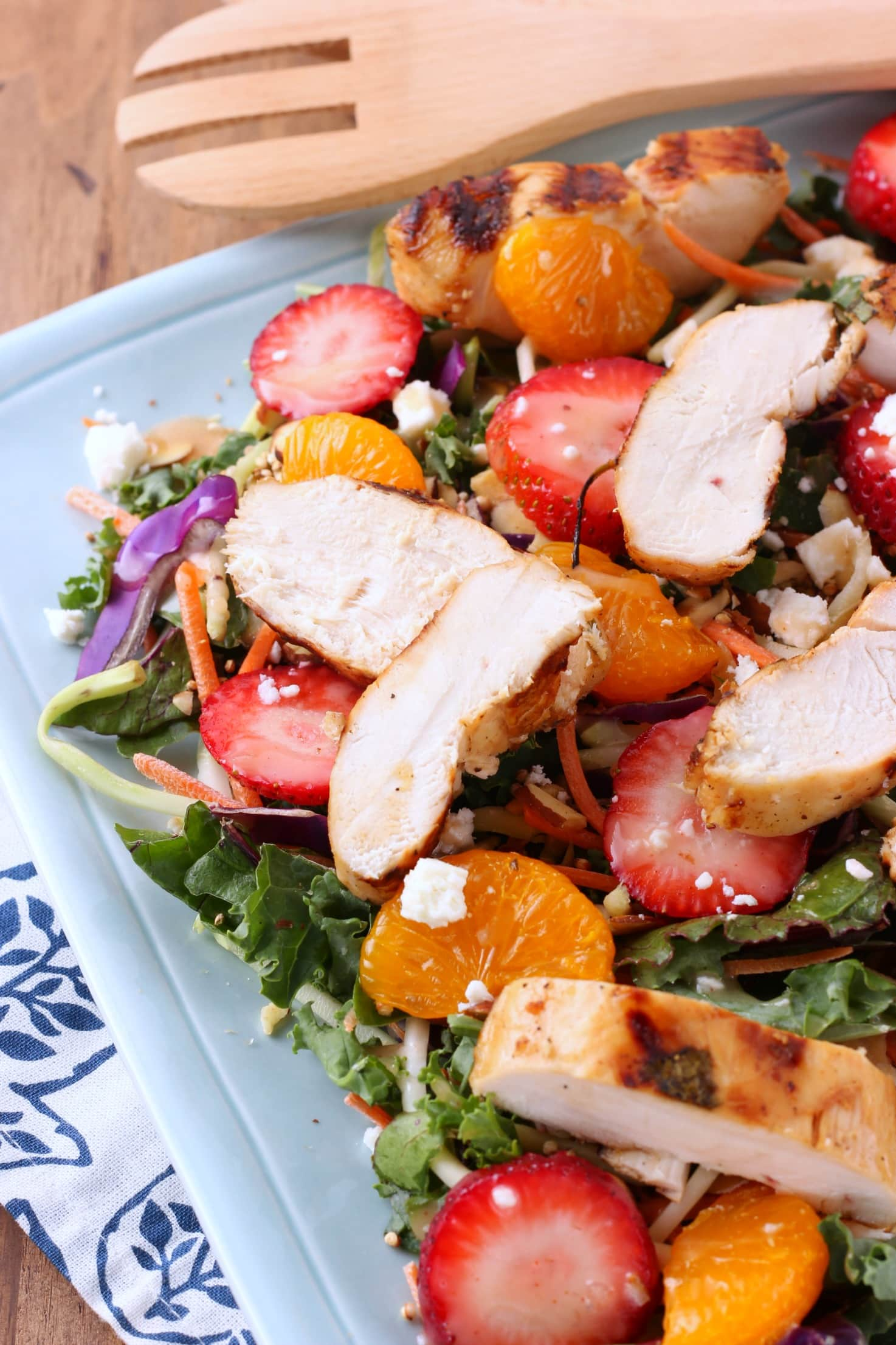 Grilled Citrus Chicken with Strawberry Harvest Salad from A Kitchen Addiction