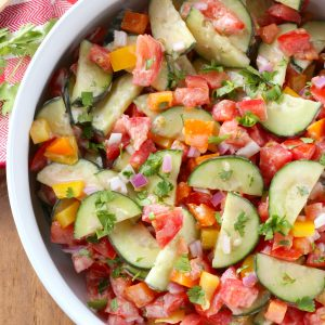 Creamy Ranch Tomato Cucumber Salad