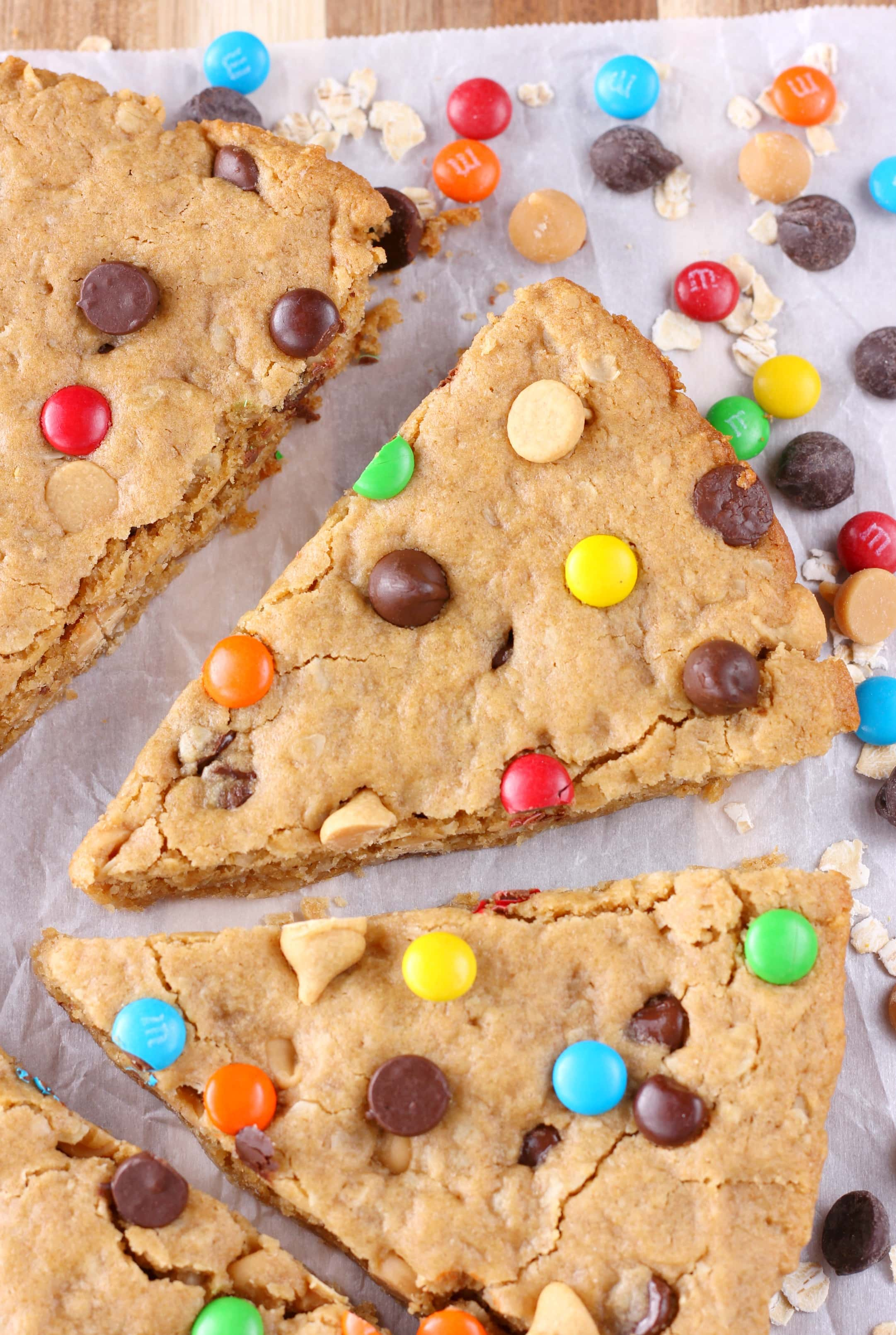 Healthier Chocolate Chip Peanut Butter Oat Cookies Recipe from A Kitchen Addiction