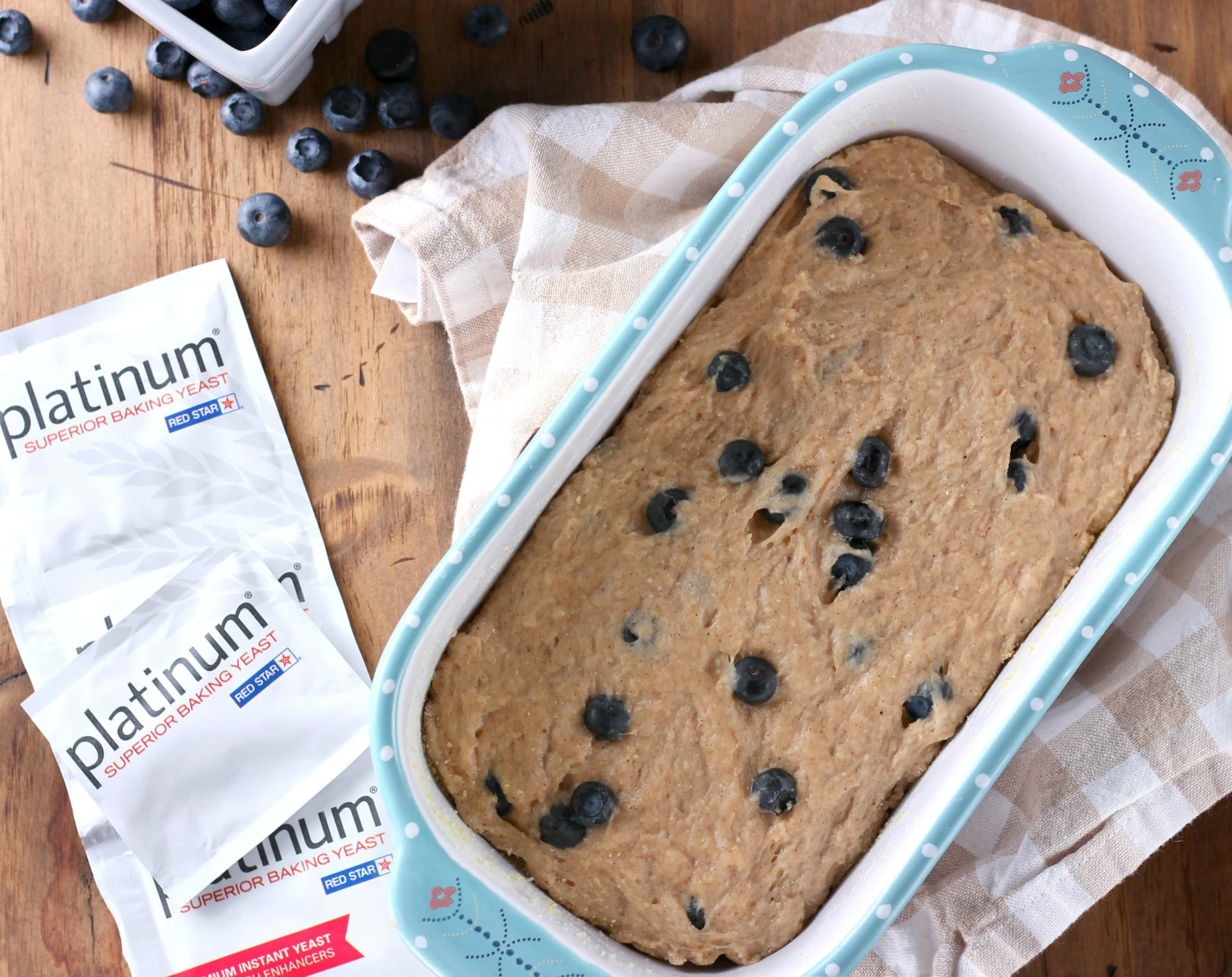 Blueberry English Muffin Bread Dough
