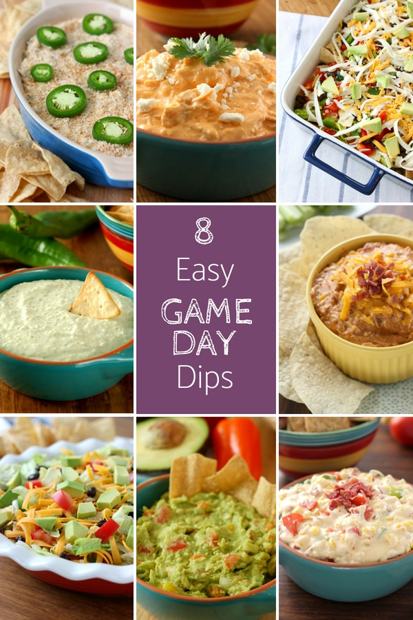 8 Easy Game Day Dip Recipes from A Kitchen Addiction
