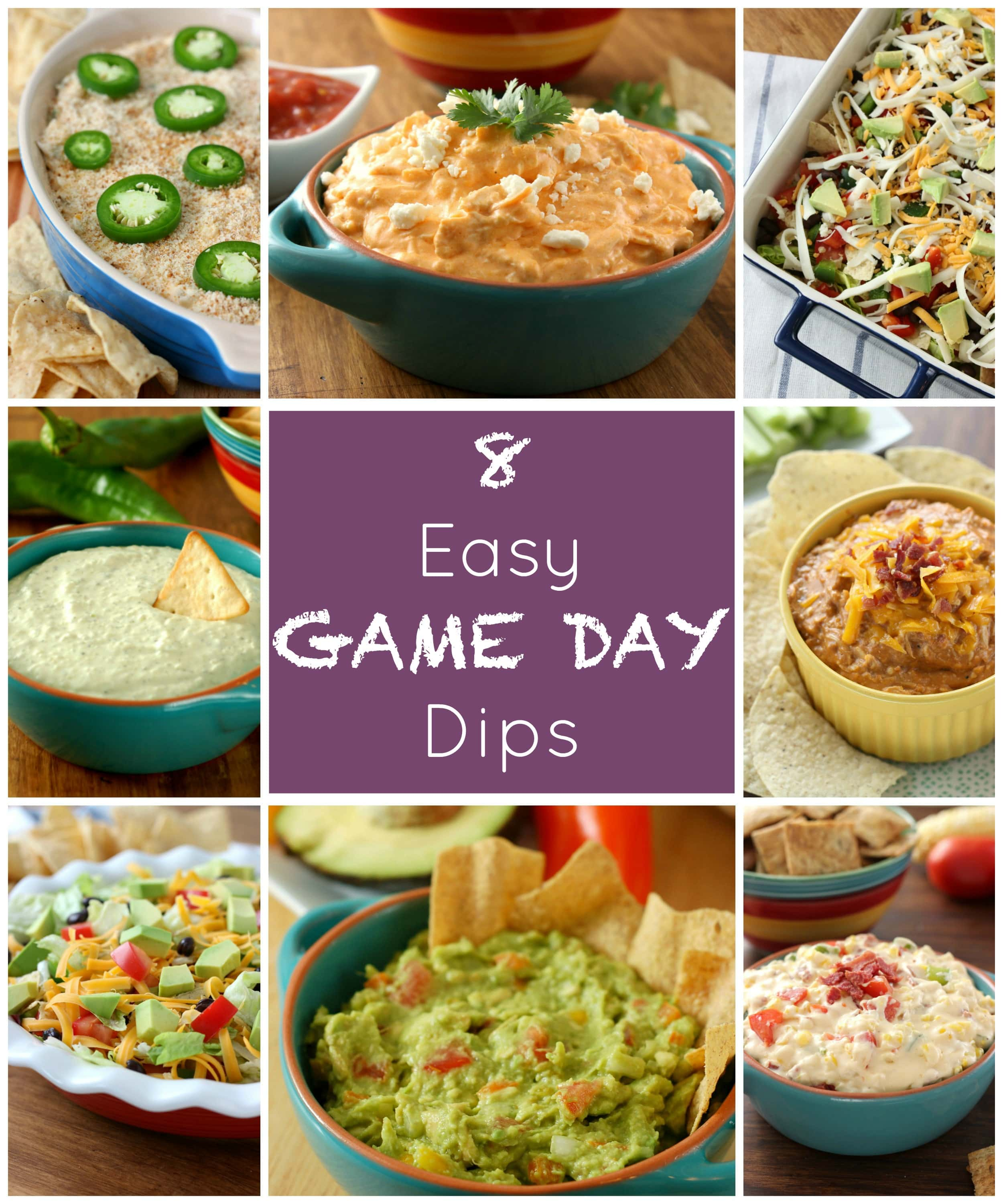 8 Easy Game Day Dips from A Kitchen Addiction