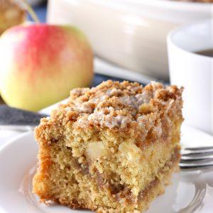 Cinnamon Swirl Apple Coffee Cake {Whole Wheat}