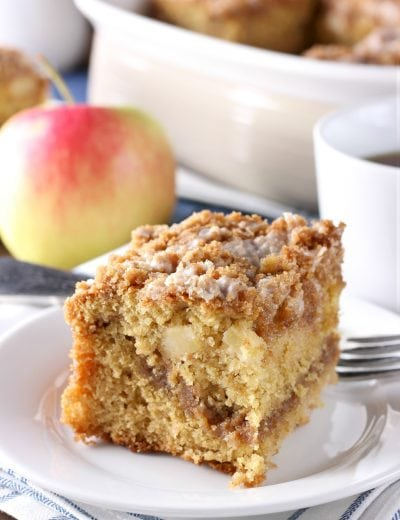 Cinnamon Swirl Apple Coffee Cake {Whole Wheat}
