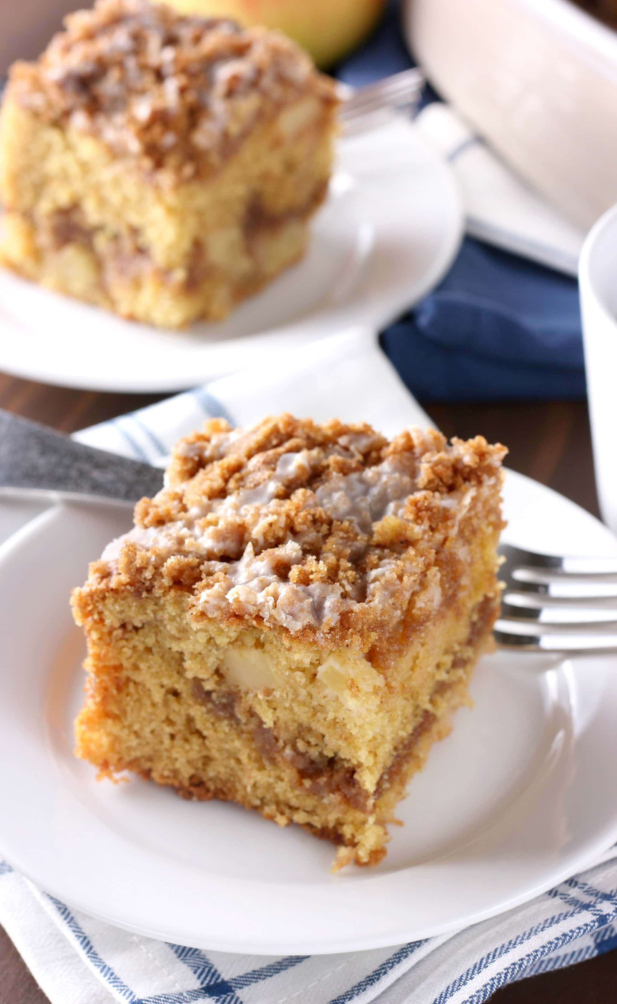 Cinnamon Swirl Apple Coffee Cake Recipe from A Kitchen Addiction