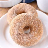 Baked Pumpkin Cardamom Donuts