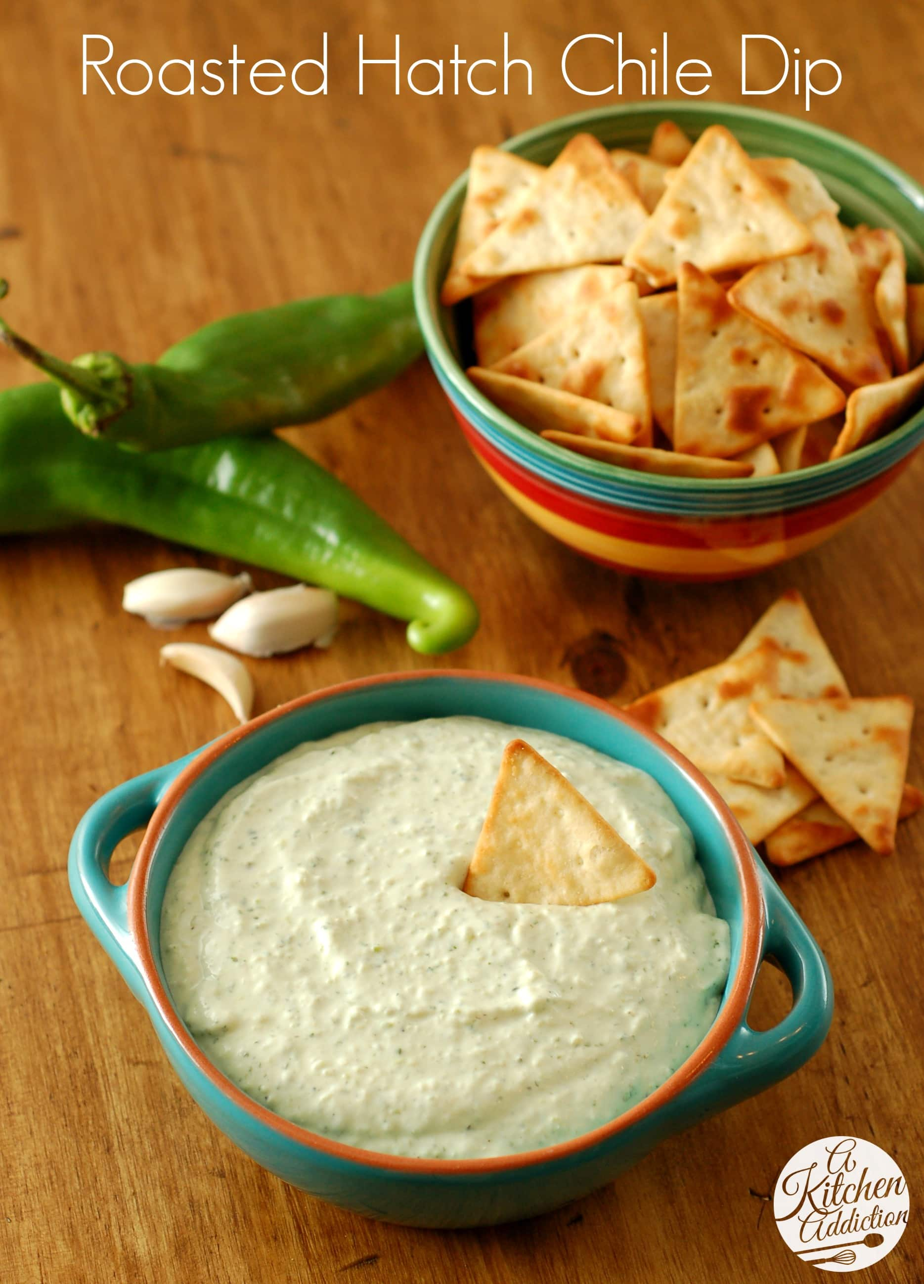 Creamy Roasted Hatch Chile Dip Recipe from A Kitchen Addiction