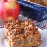Spiced Apple Pie French Toast Bake with an overnight option! Recipe from A Kitchen Addiction