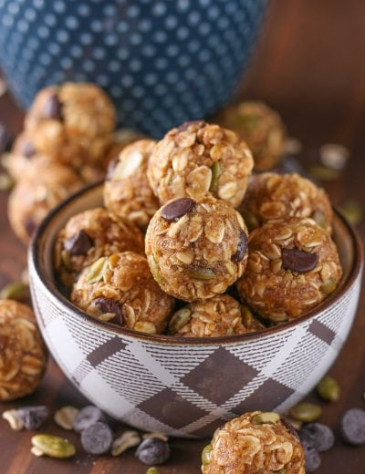 Dark Chocolate Pumpkin Spice Granola Bites