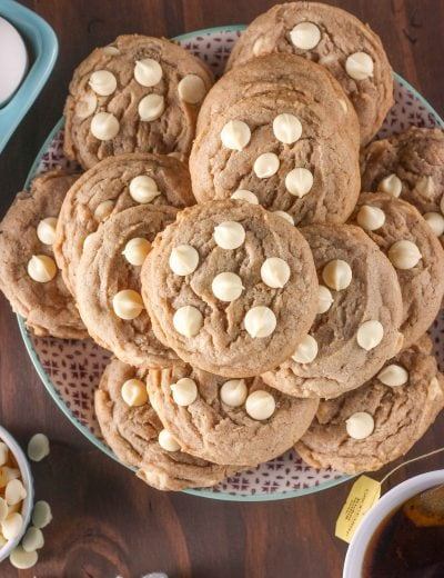 Quick and Easy White Chocolate Maple Chai Cookies Recipe from A Kitchen Addiction
