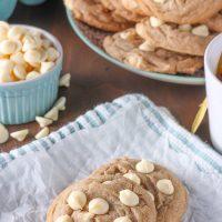 White Chocolate Maple Chai Cookies
