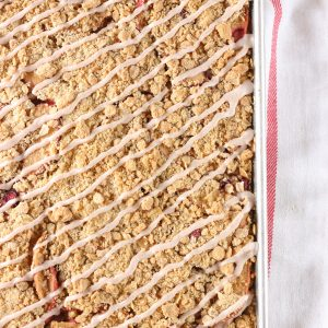 Honey Cranberry Apple Crumb Bars