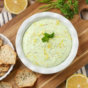 Creamy Lemon Herb Feta Dip (Gluten Free)