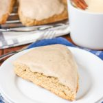 Easy Glazed Cinnamon Eggnog Scones Recipe from A Kitchen Addiction