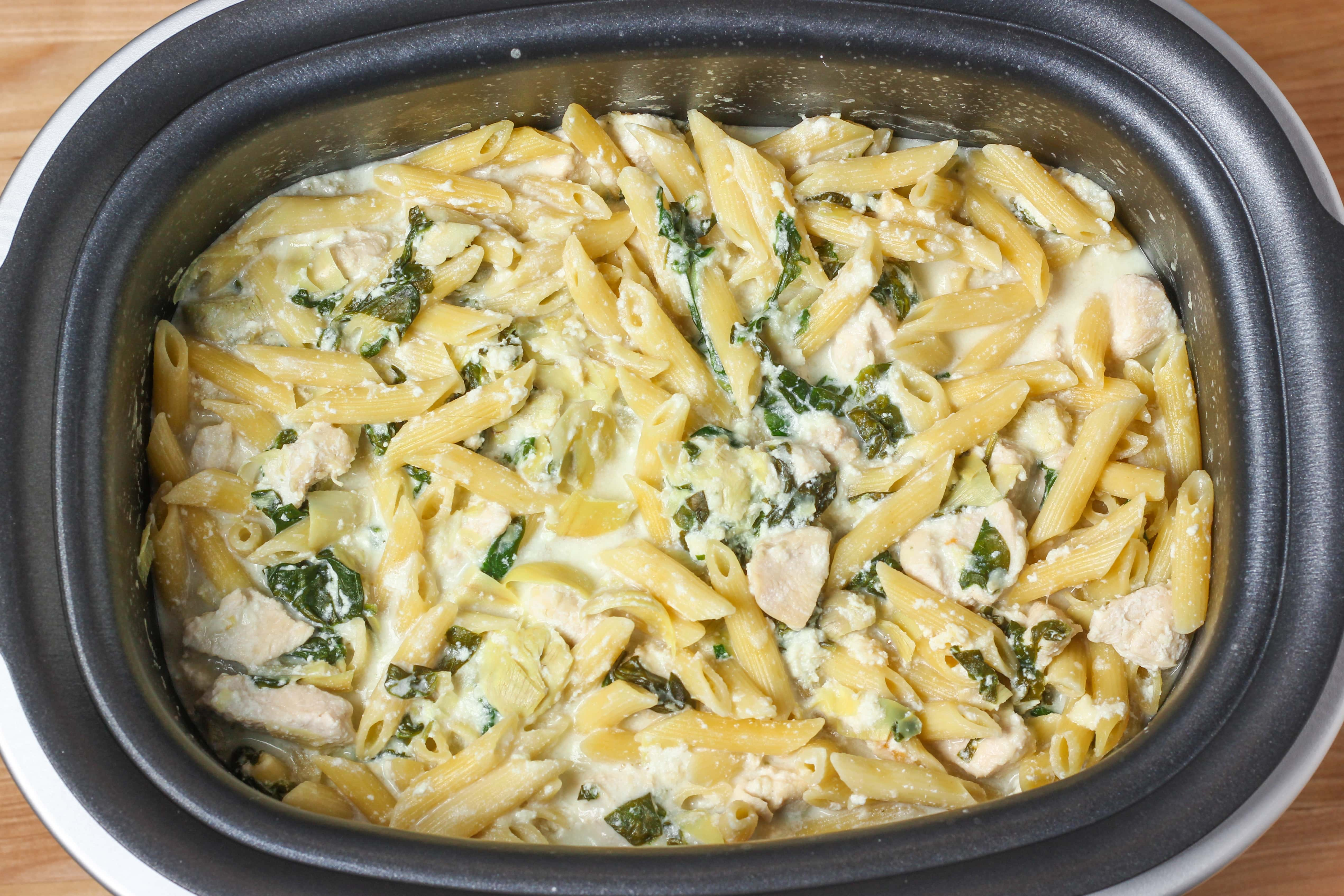 Spinach Artichoke Chicken Penne Cookies