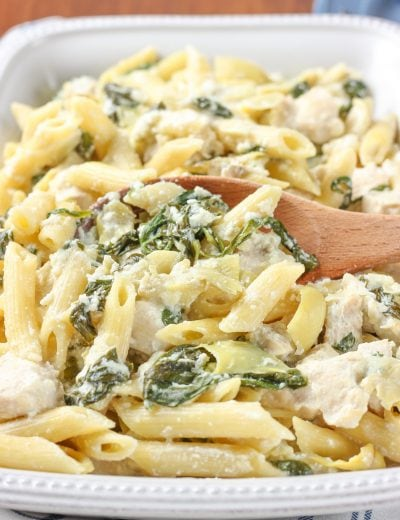 Spinach Artichoke Chicken Penne