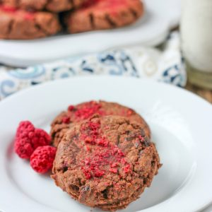 Quick and Easy Raspberry Fudge Cookies Recipe from A Kitchen Addiction