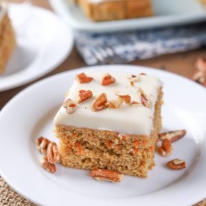 Healthier Carrot Snack Cake Recipe