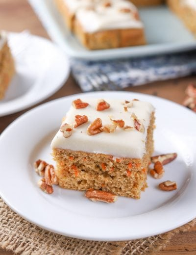 Healthier Carrot Snack Cake {Whole Wheat}