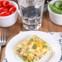 Easy Vegetable Egg Bake