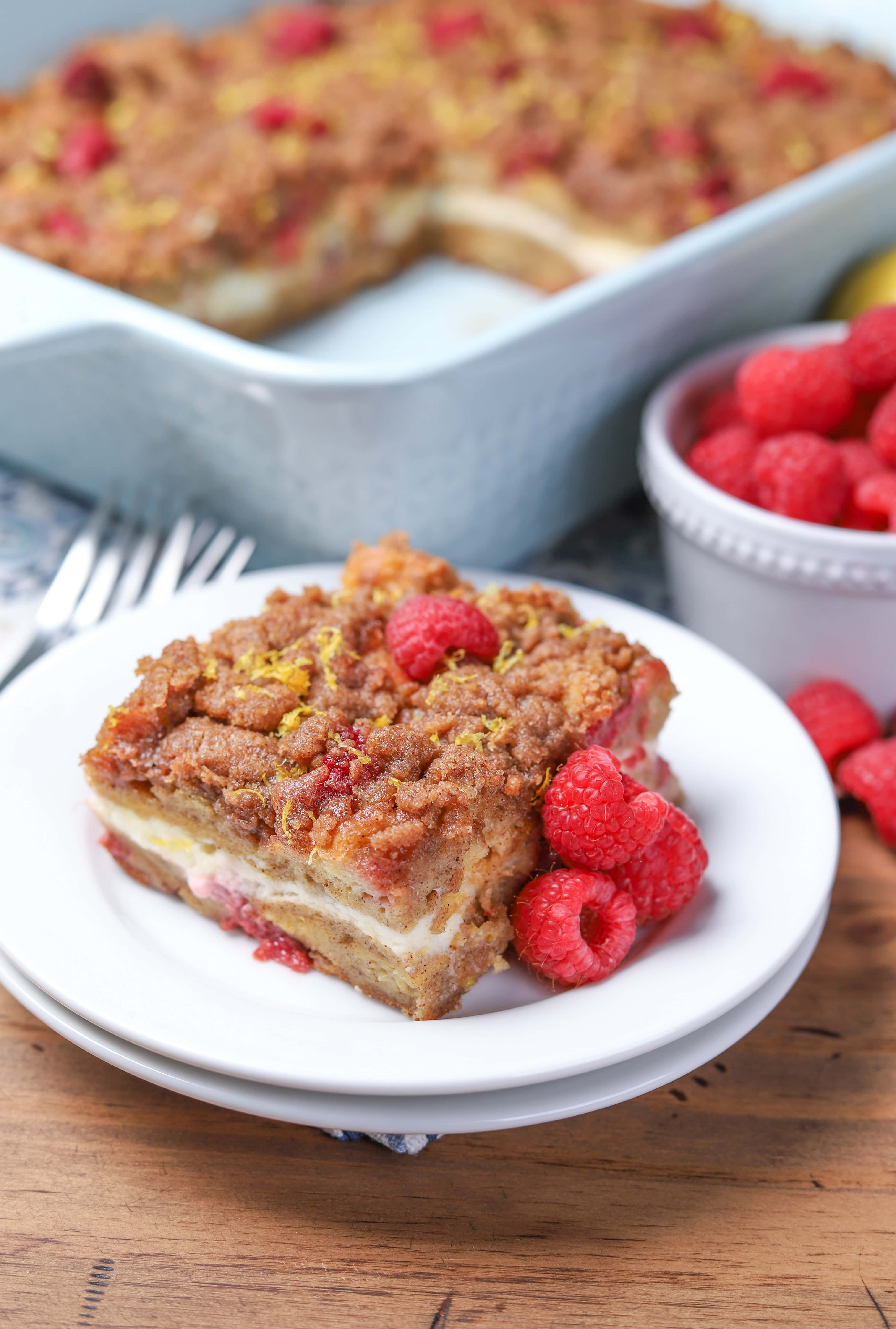 Raspberry Lemon Cream French Toast Casserole Recipe