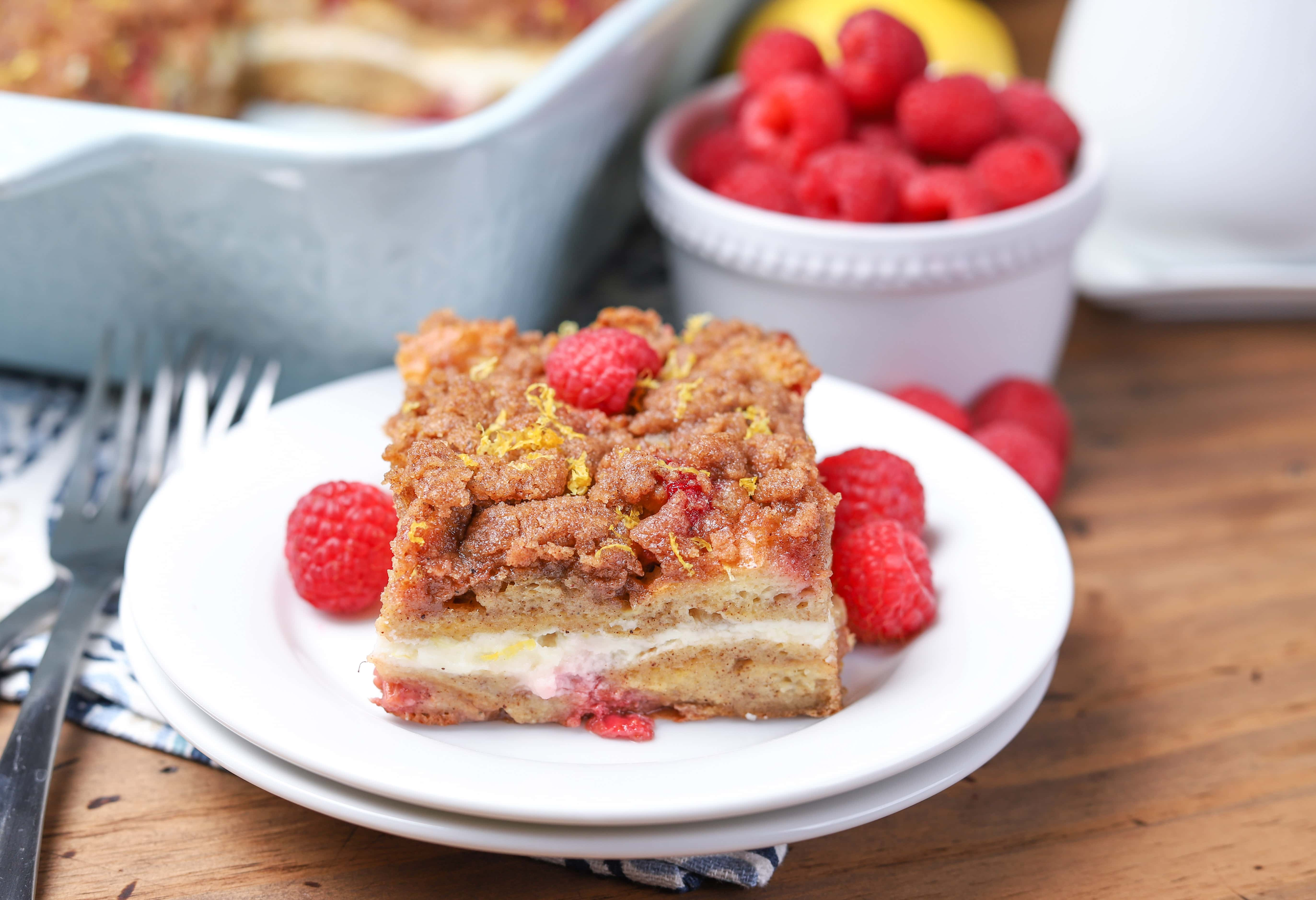 Raspberry Lemon Cream French Toast Bake Recipe