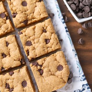 Chocolate Chip Almond Butter Bars Recipe