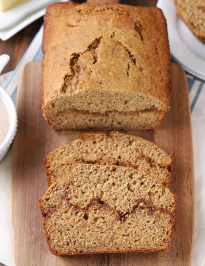 Cinnamon Swirl Banana Bread {Whole Wheat}