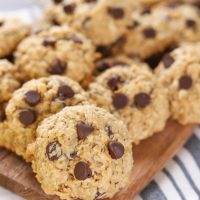Coconut Chocolate Chip Honey Oatmeal Cookies