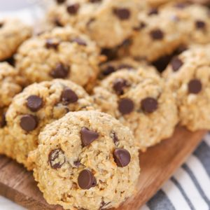 Coconut Chocolate Chip Honey Oatmeal Cookies {Whole Wheat}