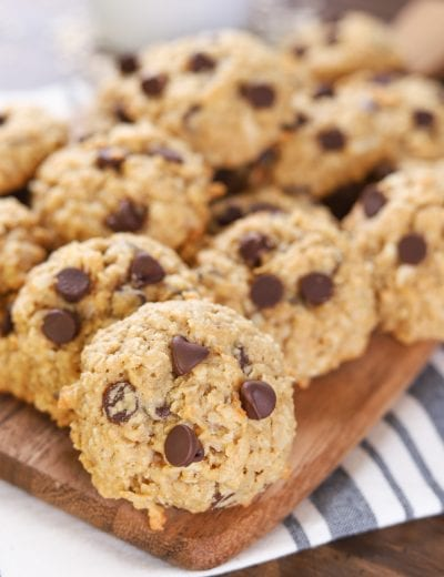 Coconut Chocolate Chip Honey Oatmeal Cookies Recipe